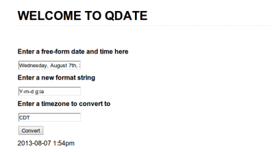 Welcome to qdate is working!