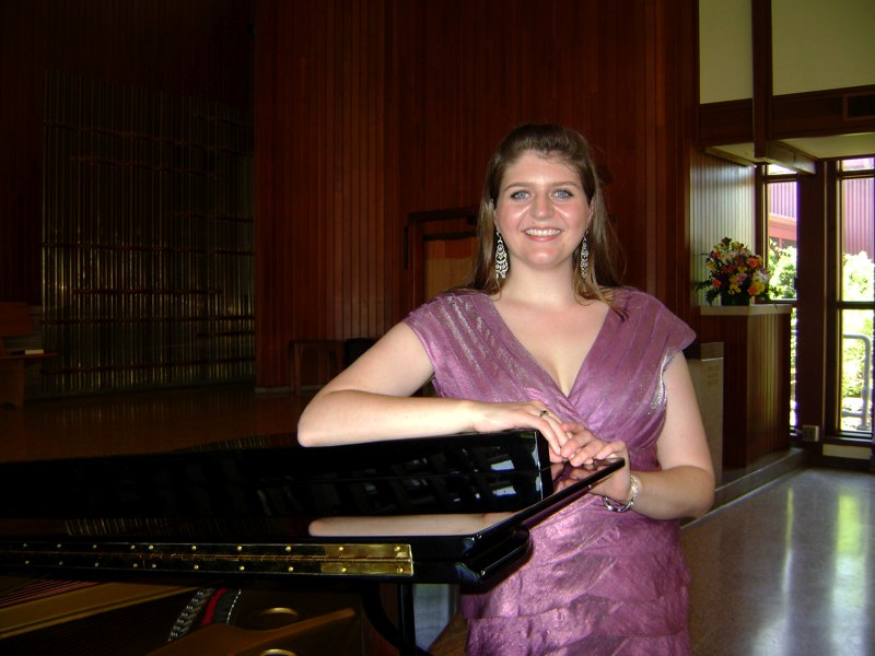 Heather after her Masters Recital in Bloomington, Indiana