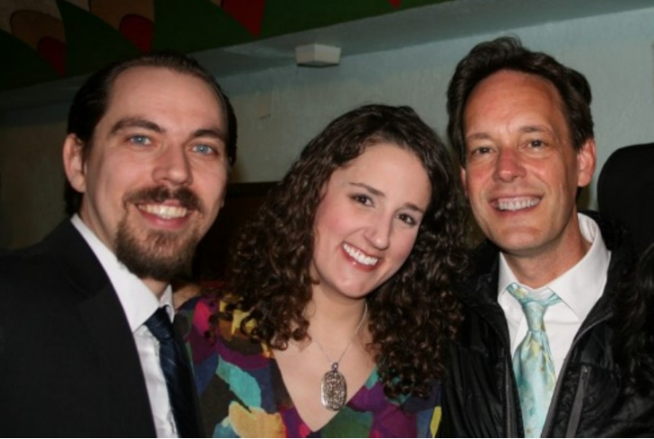 With Jonathan Stinson and Jake Heggie after Dead Man Walking - Spring 2013