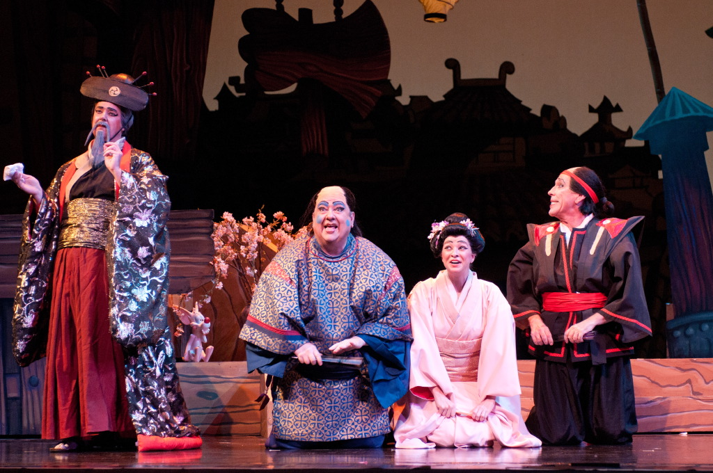 The Mikado, with Kevin Eckard, David Ward, and Robert Orth.  Photo by Denis Kelly.