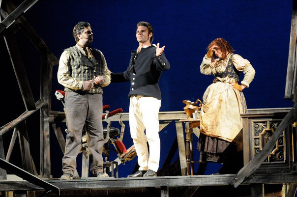 Sweeney with McKay Harris as Anthony Hope and Felicia Stehmeier as  Mrs. Lovett