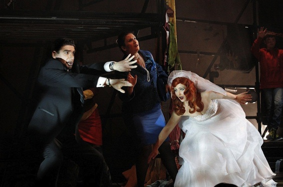 Elliot Carter's What Next? with Victorian Opera (2012) Photo copyright Jeff Busby