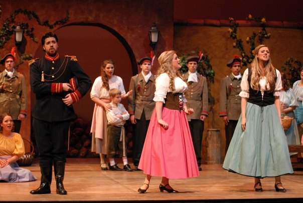 Belcore, L'elisir d'amore (with Mary-Jane Lee as Adina and Erin Powell as Gianetta)