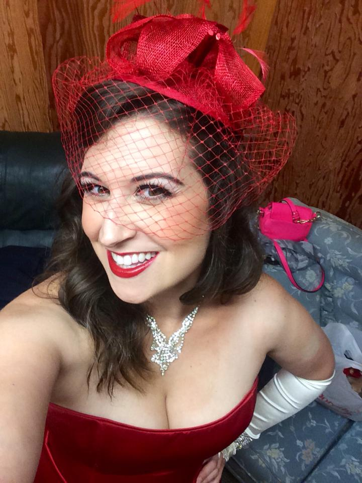 Backstage as Josephine in H.M.S. Pinafore, South Shore Conservatory Evenings Under the Stars, 2014