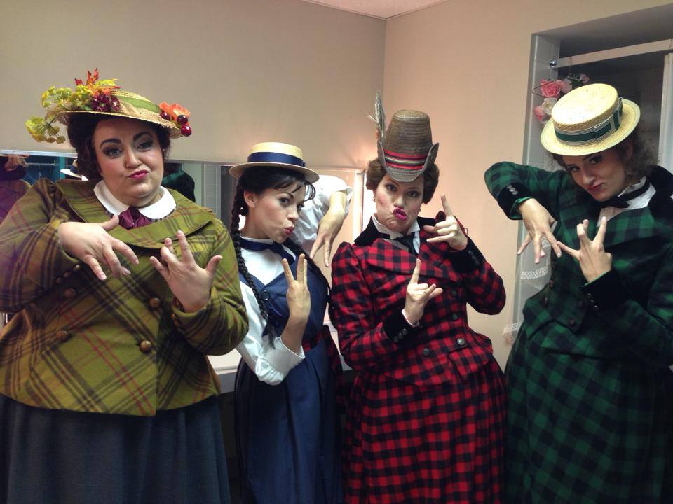 Backstage with the Merry Wives - Virginia Opera - Fall 2013