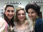 Backstage with Keely Borland (Barbarina) and Erica Convery (Cherubino)