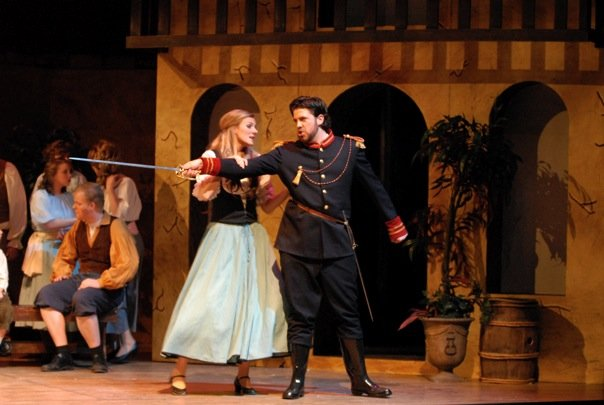 Belcore, L'elisir d'amore (with Mary-Jane Lee as Adina)