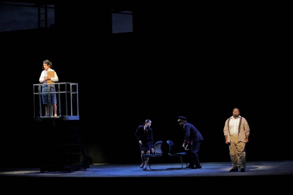 (pictured left) The Controller in Flight, Santa Fe Opera Apprentice Scenes, 2011 (photo by Ken Howard)