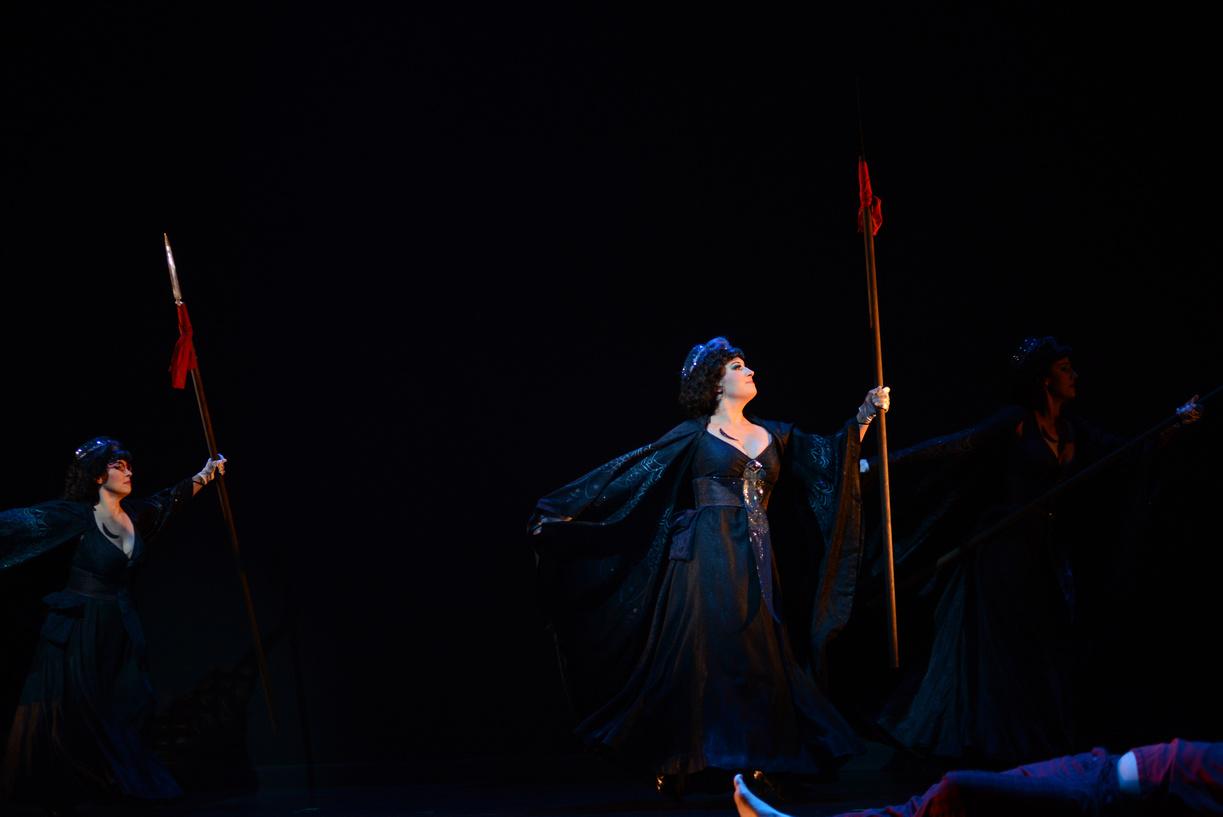 (pictured at center) First Lady in The Magic Flute, Virginia Opera, 2013 (photo by David Adam Beloff)