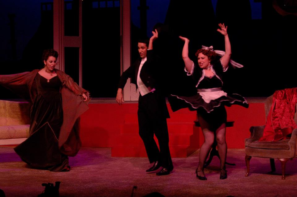 (pictured on right) Adele in Die Fledermaus, The Boston Conservatory, 2006