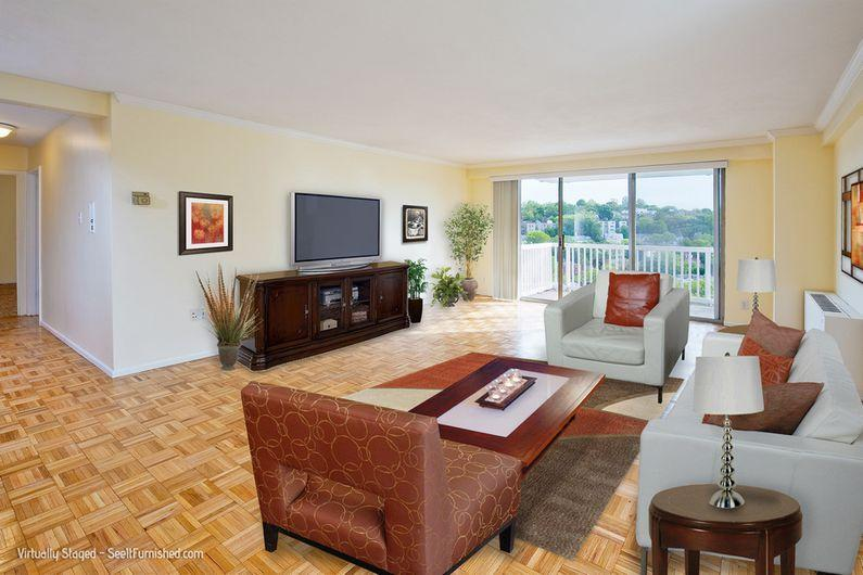MUST SEE 2 Bed on Beacon,2 Bath, $3,250 -Garage Park,, Concierge, Pool