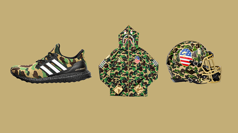 48e904ec38add This BAPE x adidas Football  Super Bowl  Pack is releasing as early ...