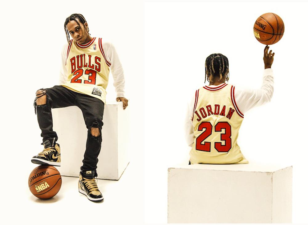 16035b7b841 Michael Jordan 1995 96 Hardwood Classics Premium Gold Jersey