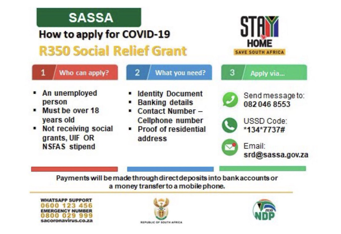 How To Apply For R350 Special Relief Grant Yomzansi Documenting The Culture
