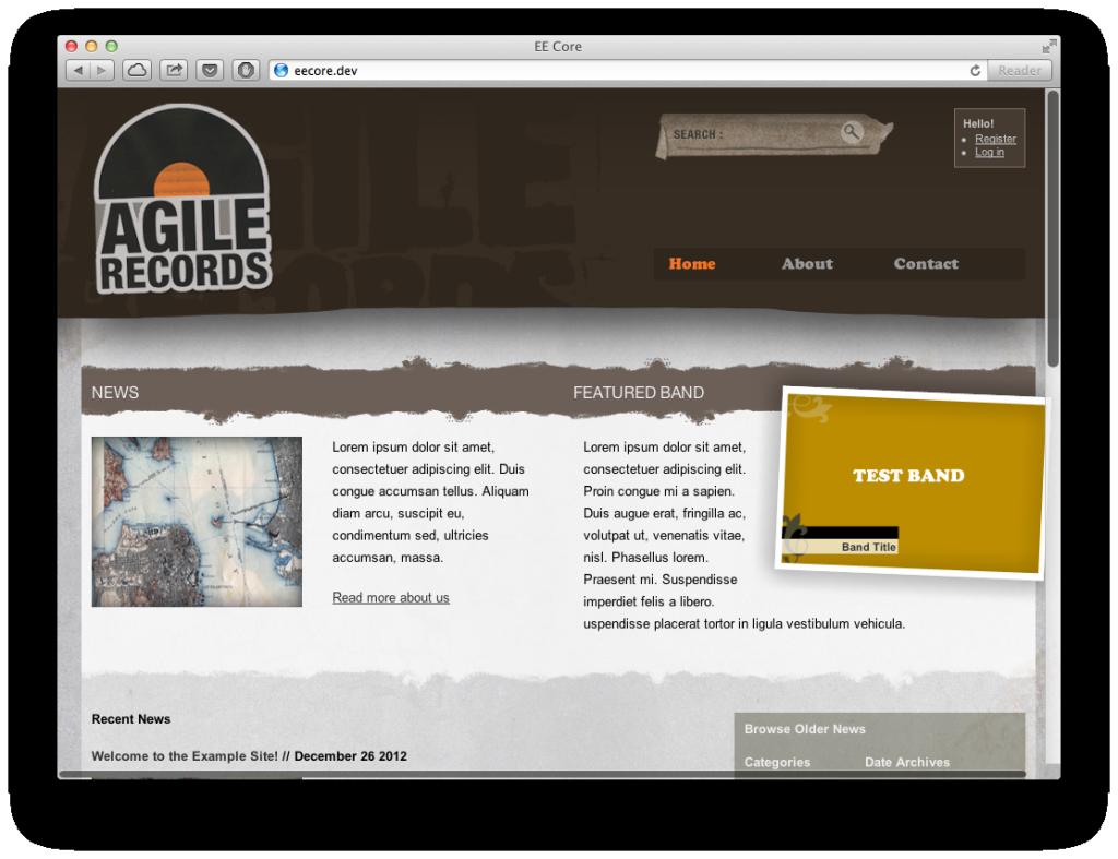 Agile records - Free ExpressionEngine theme