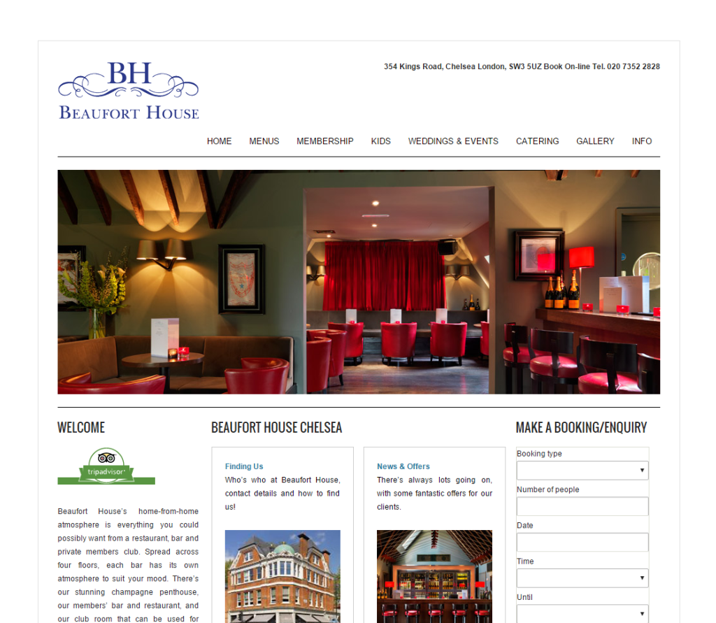 Beaufort House Chelsea website. before the makeover