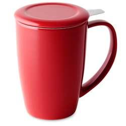 Curve Tall tea mug with infuser and lid