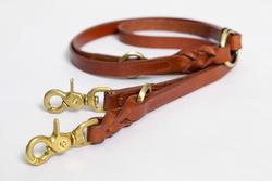 Hyde Park Leather Dog Lead