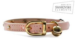 Crystal & Leather Cat Collars
