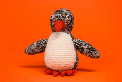 Hand Knit Penguin