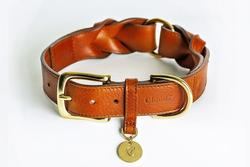Cloud7 Hyde Park Leather Dog Collar