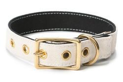 Canvas Dog Collar White/Black