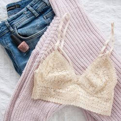 Daisy Lace Strappy Caged Bralette - Beige