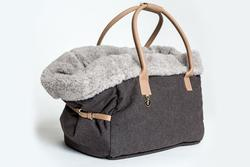 Heather Brown Dog Tote