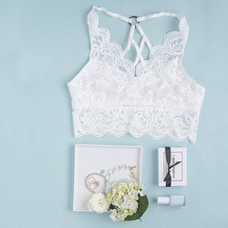 Strappy Scalloped Lace Bralette