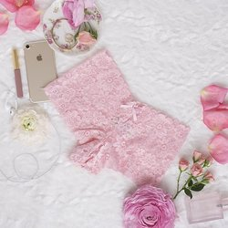 Floral Lace Cheeky Panty - Pink