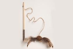 Pheasant Birch Wand Cat Toy