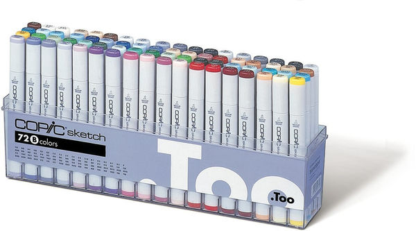 Yotti — Sketch Markers 72pc Set, Set B. Best gift for designer http://www.yotti.co/gifts/sketch-markers-72pc-set-set-b