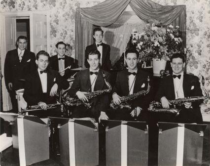 <center>Cy with his band, circa 1948</center>