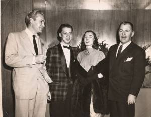 Forest Tucker, Cy, Ella Raines,and  Brain Donlevy.