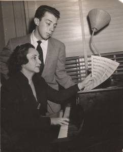 Cy working with his mentor, pianist Adele Marcus.