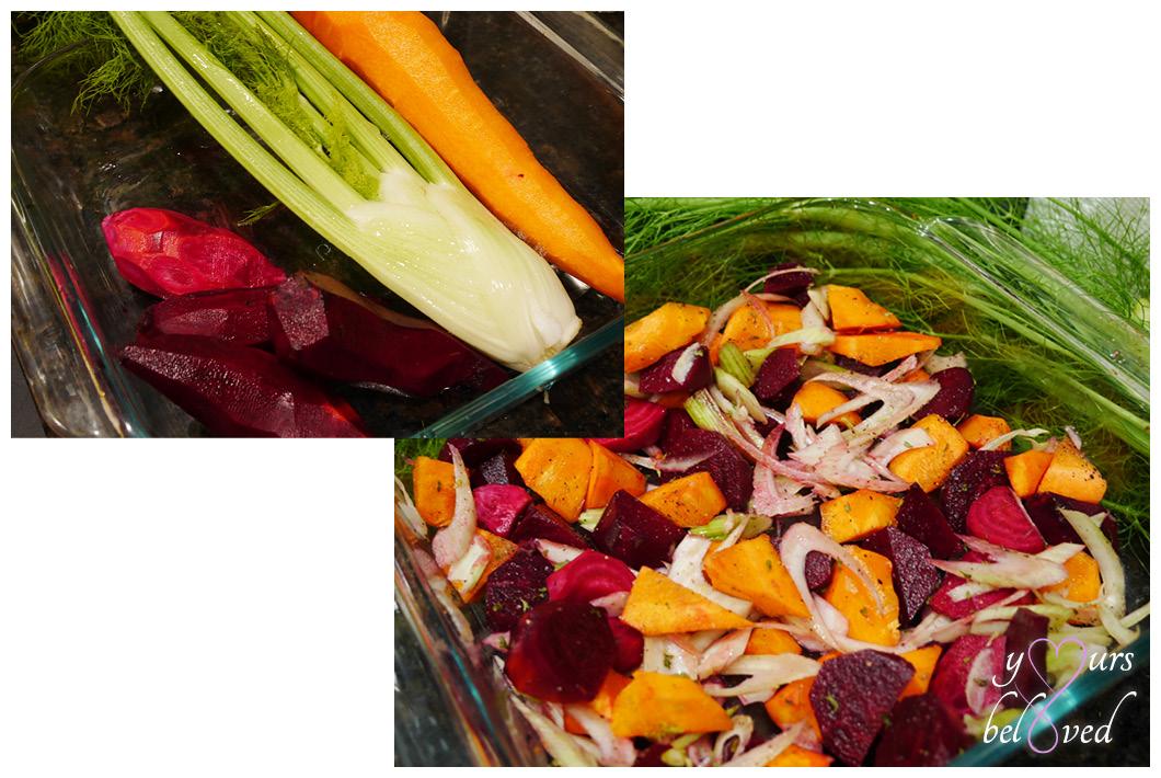 Roasted Fennel, Carrot, Beet