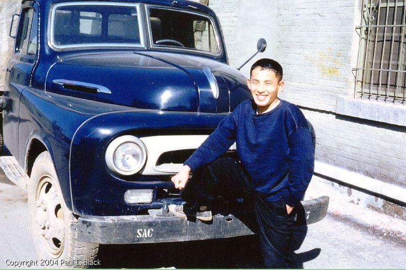 School boy with toyota truck-1958-PaulBlack