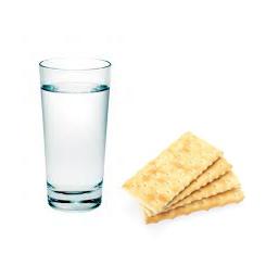 Crackersnad water