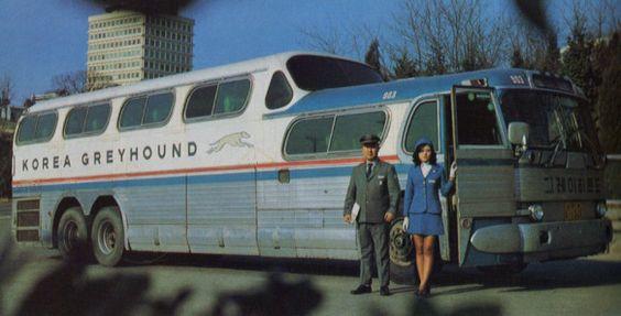 Greyhound bus 1970s