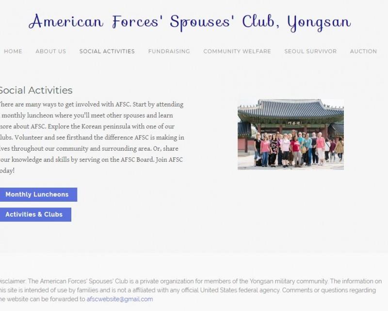 AFSC social activities