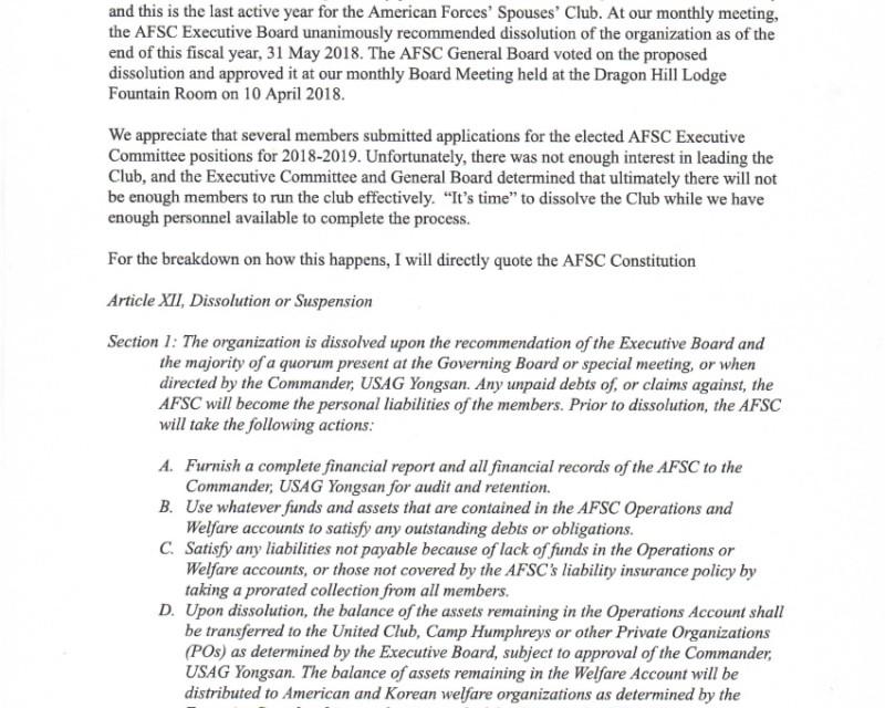 2018 AFSC Membership Letter Dissolution-1