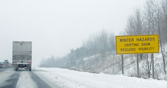 winter driving tips for road hazards