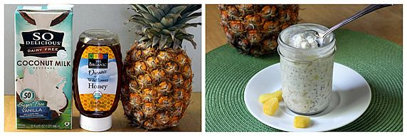 Pineapple Coconut Refrigerator Oatmeal