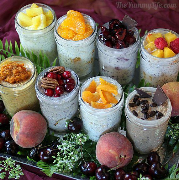 8 Refrigerator Oatmeal Varieties