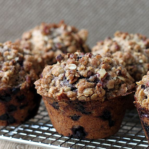 Whole-Wheat And Almond Blueberry Muffins With Streusel Topping Recipe ...
