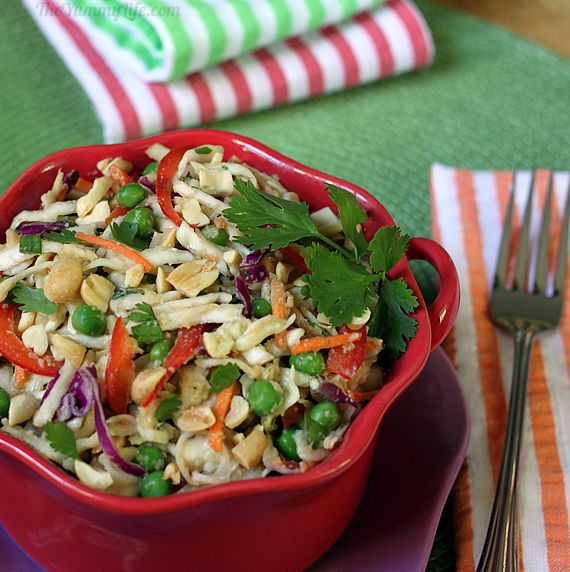 The slaw can be eaten as a main course. (You can toss in some chicken ...