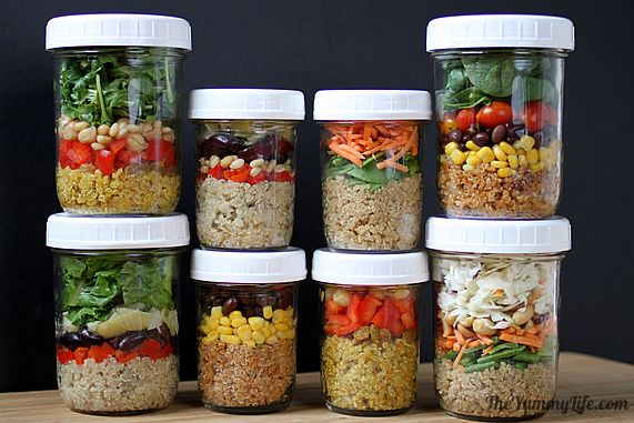 quinoa salad in a jar