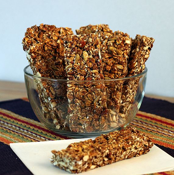 Honey Nut Oat Granola Bars