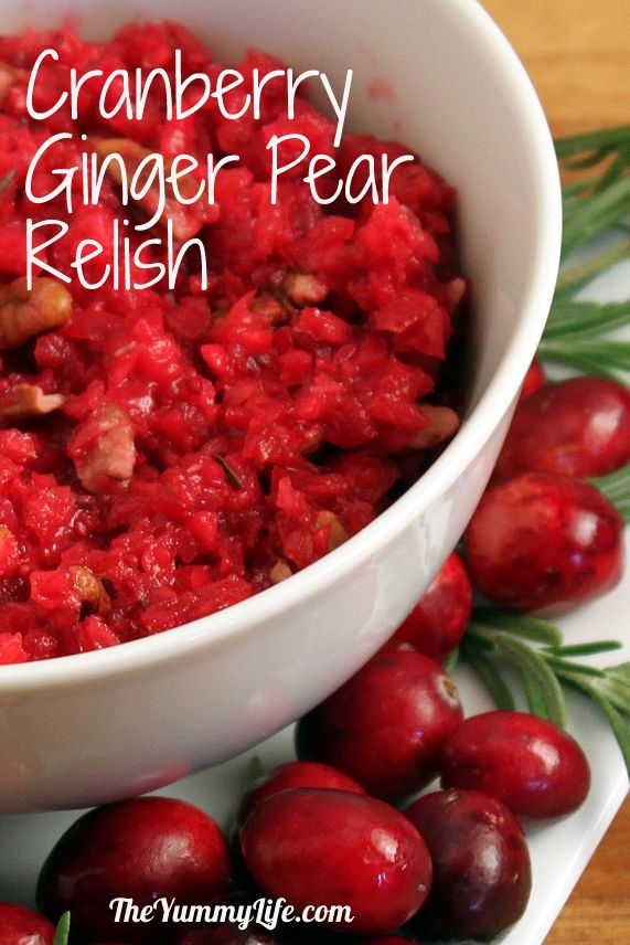Cranberry Pear Sauce Recipe — Dishmaps