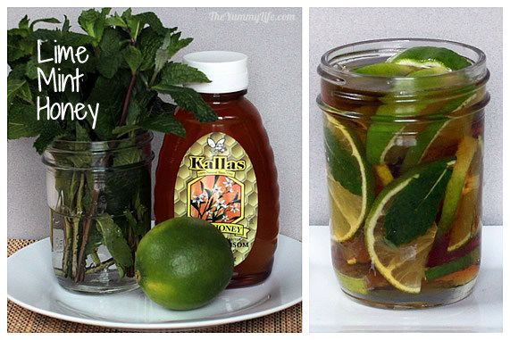 Lime Mint Honey Syrup